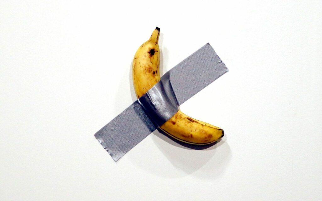 Banana Taped to Wall