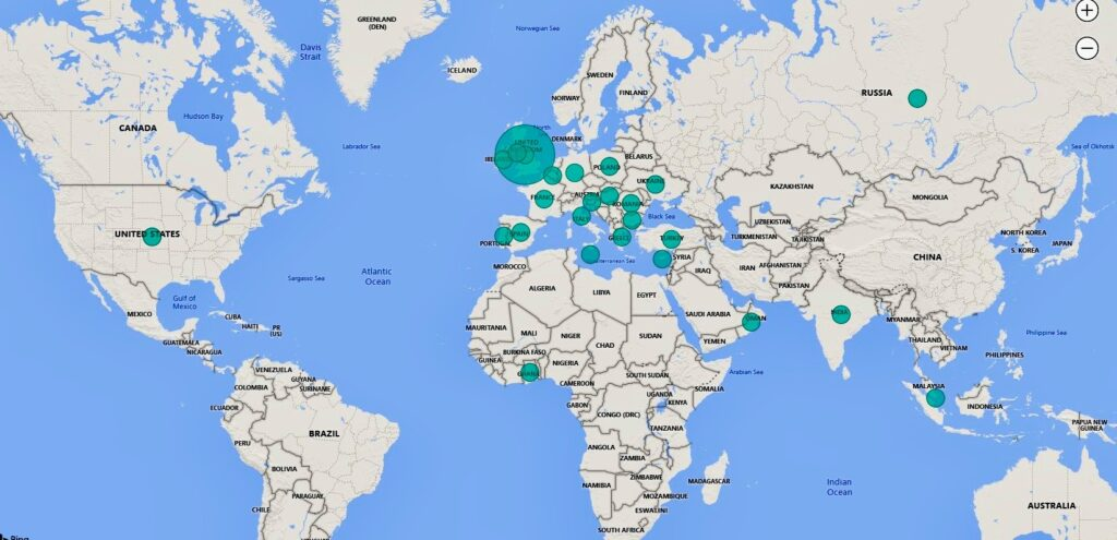 Global Auctioneers buy and sell locations